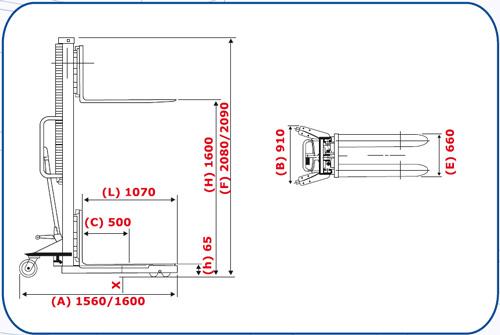 Diagrama de Elevador hidraulico HMS 1500n