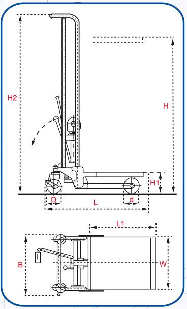 Diagram del Elevador hidráulico LMS 400p